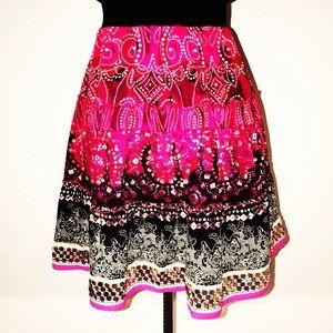 Dresses & Skirts - Boho short cotton skirt with sequin embellishments